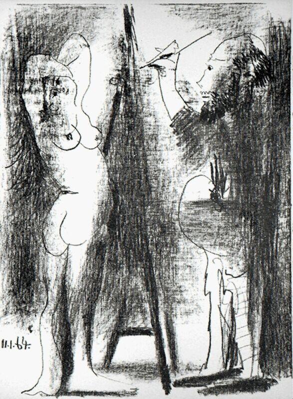 Pablo Picasso, 'Le Peintre et Son Modèle', 1964, Print, Original lithograph on Arches paper, michael lisi / contemporary art