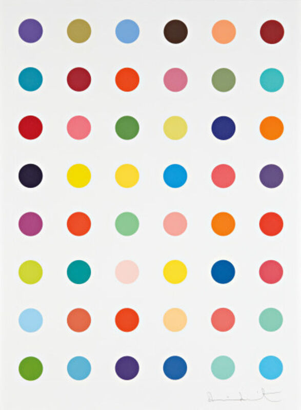 Damien Hirst, 'Oleoylsarcosine ', 2008, Print, Etching in colours, with 48 uniquely coloured spots, on Hahemühle 350 gsm paper, with full margins, Lougher Contemporary