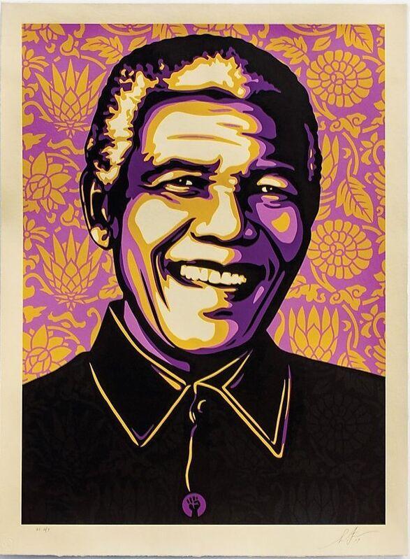 Shepard Fairey, 'Nelson Mandela - Purple', 2019, Print, Screen Print, Gallery Auximenes