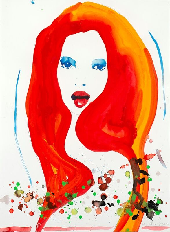 Marc Quinn, 'Kate Moss', Drawing, Collage or other Work on Paper, Watercolor and graphite on paper, Finarte