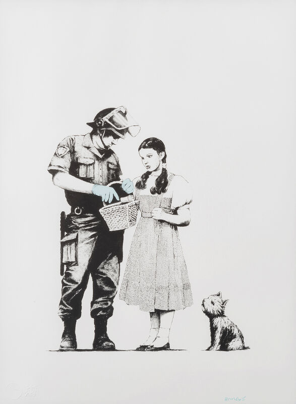 Banksy, 'Stop & Search', 2007, Print, Screenprint in colours on Arches 88 Paper, Tate Ward Auctions