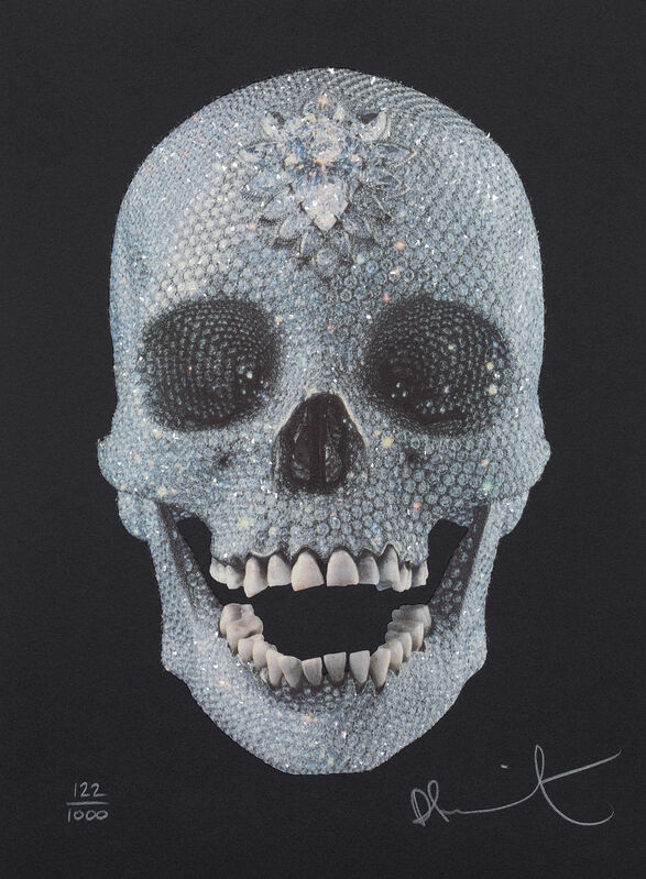 Damien Hirst, 'For the Love of God', 2009, Print, Screenprint in colours with diamond dust, on wove paper, the full sheet., Phillips