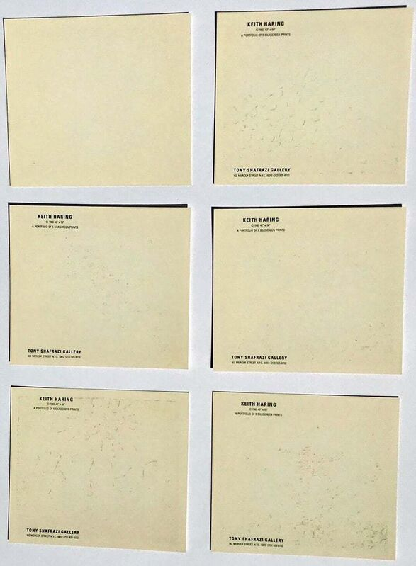 Keith Haring, 'Keith Haring Fertility: complete set of 5 gallery announcements', 1983, Print, Offset printed gallery announcements, Lot 180