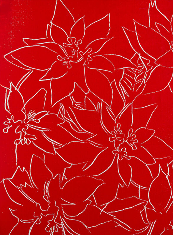 Andy Warhol, 'Poinsettia', 1983, Print, Silkscreen on paperboard, David Benrimon Fine Art