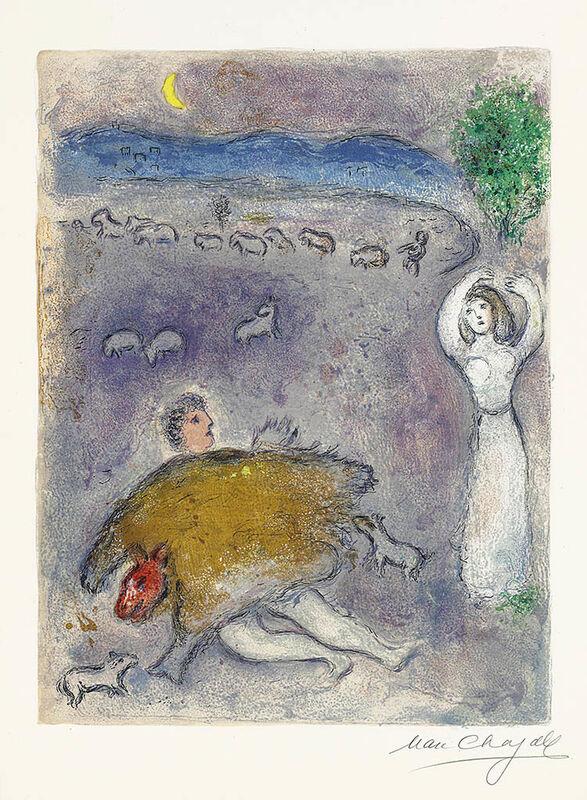 Marc Chagall, 'La Ruse de Dorcon (Dorcon's Strategy)', 1961, Print, Color Lithograph, Masterworks Fine Art