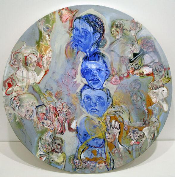Judy Glantzman, 'Blue Totem', 2005