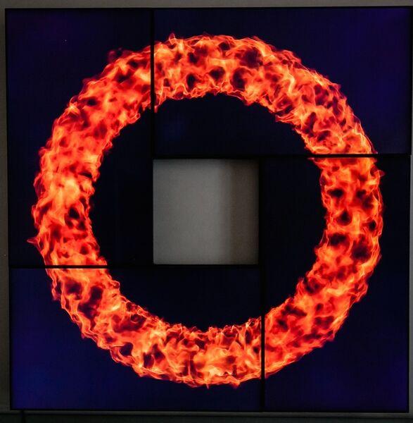 Fabrizio Plessi, 'Cerchio fuoco piccolo', ca. 2015