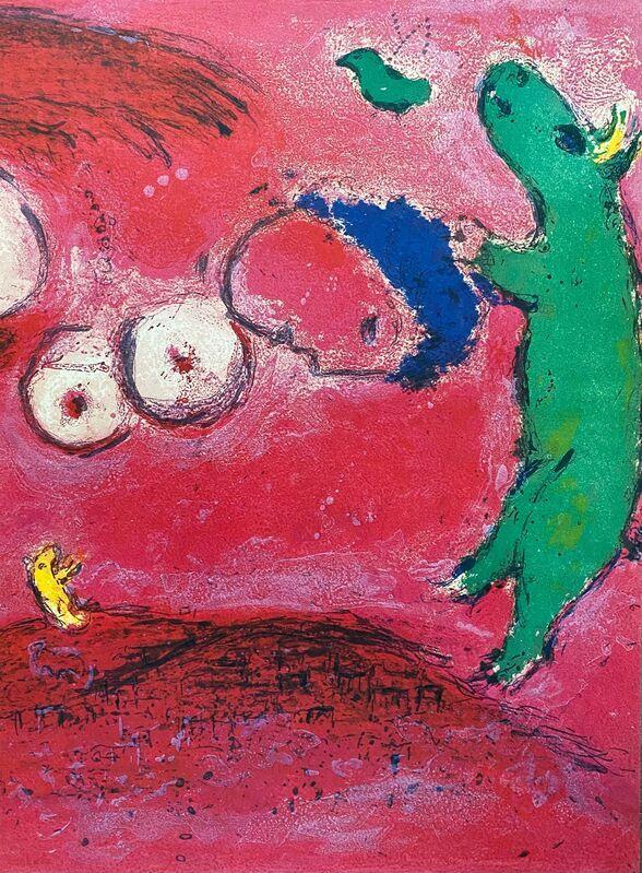 "Marc Chagall, '""Spring in the Meadow (Printemps au Pré),"" from Daphnis et Chloé (Cramer 46; Mourlot 314)', 1977, Print, Offset lithograph on wove paper, Art Commerce"