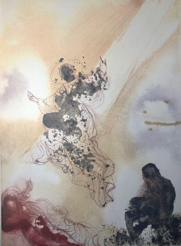Salvador Dalí, 'Saint Raphael And Tobias, 'Sanctus Raphael Et Tobias', Biblia Sacra', 1967, Print, Original Lithograph, Inviere Gallery