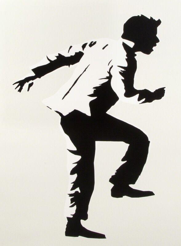 Blek le Rat, 'Running Man', 2008, Print, Silkscreen on paper, Julien's Auctions