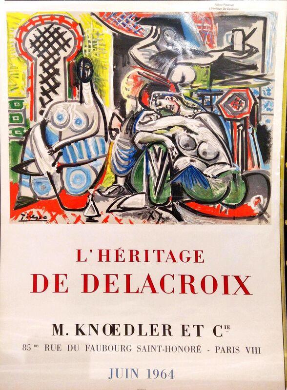 Pablo Picasso, ' L'Héritage de Delacroix', 1964, Print, Lithographic Poster, Hidden