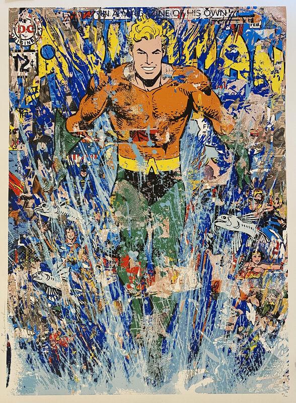 Mr. Brainwash, 'Aquaman', 2018, Print, Serigraph, Georgetown Frame Shoppe