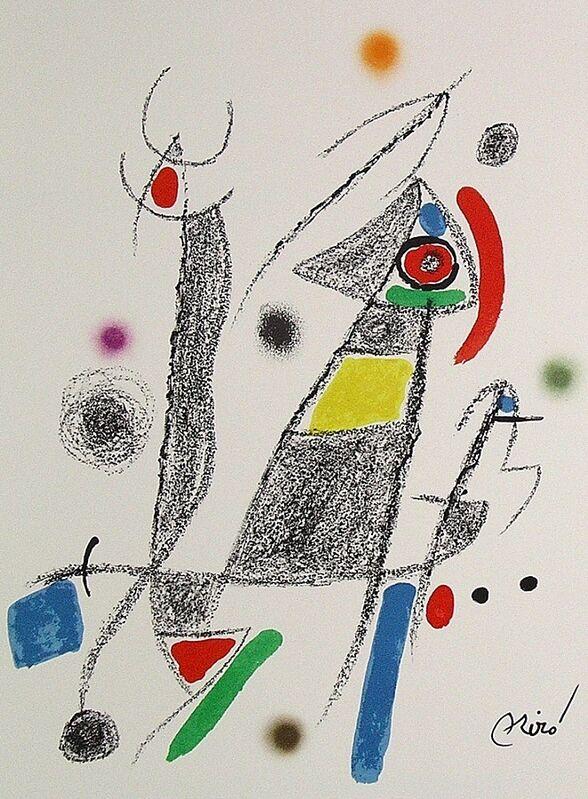 Joan Miró, 'Maravillas con variaciones acrósticas en el jardín de Miró VI', 1975, Print, Lithograph on Gvarro paper, ARTETRAMA