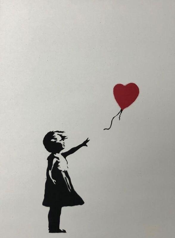 Banksy, 'Girl With Balloon', 2004, Print, Screenprint on paper, Leonards Art