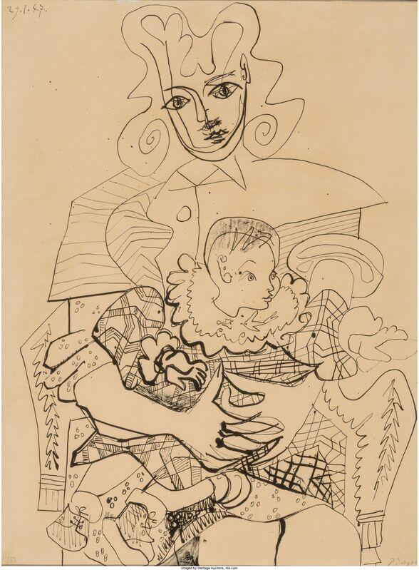 Pablo Picasso, 'Inès et son enfant', 1947, Print, Lithograph on Arches paper, Heritage Auctions