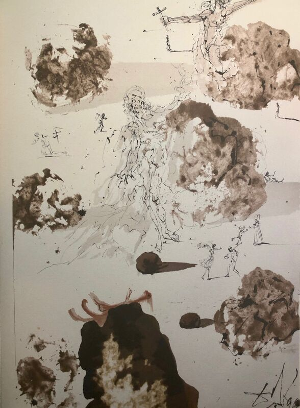 Salvador Dalí, 'All The Nations In The Valley Of Josaphat, 'Omnes Gentes In Valle Iosaphat', Biblia Sacra', 1967, Print, Original Lithograph, Inviere Gallery