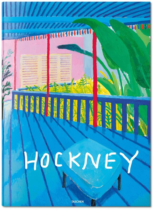 David Hockney, 'David Hockney. A Bigger Book. Art Edition D, No. 751–1,000', 2016, Other, Hardcover, 498 pages, 13 fold-outs, 50 x 70 cm (19.7 x 27.5 in.); with iPad drawing Untitled, 516, 2010, signed by the artist and numbered, 8-color ink-jet print on cotton-fibre archival paper, 33 x 44 cm (12.9 x 17.3 in.) on 43.2 x 56 cm (17 x 22 in.) paper; an adjustable bookstand by Marc Newson; and an illustrated 680-page chronology book, TASCHEN