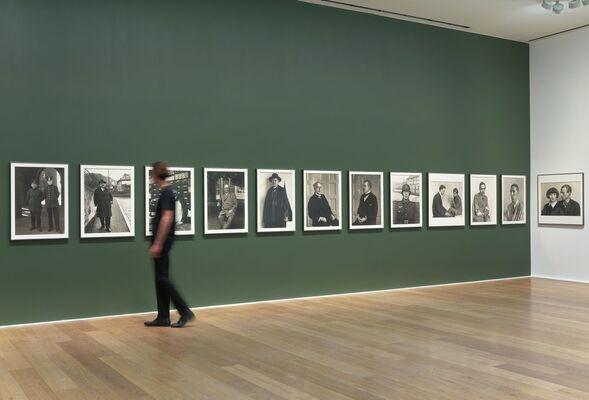 August Sander. Men Without Masks, installation view