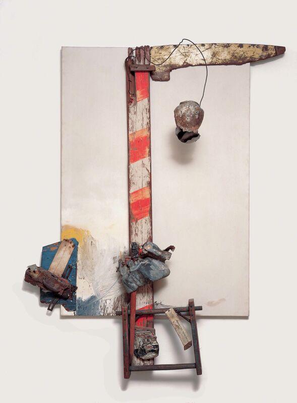 Robert Rauschenberg, 'Aen Floga', 1961, Combine: oil on canvas with wood, metal, and wire, Robert Rauschenberg Foundation
