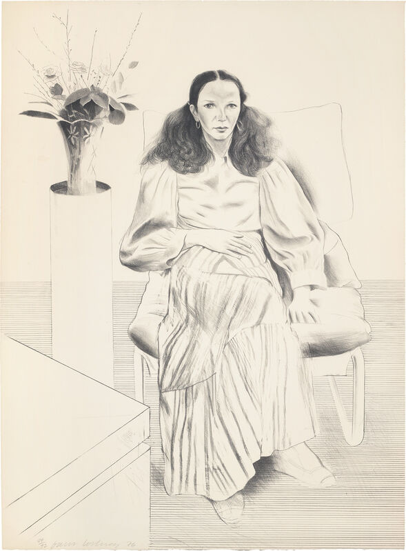David Hockney, 'Brooke Hopper, from Friends', 1976, Print, Lithograph, on Arches Cover buff paper, the full sheet., Phillips