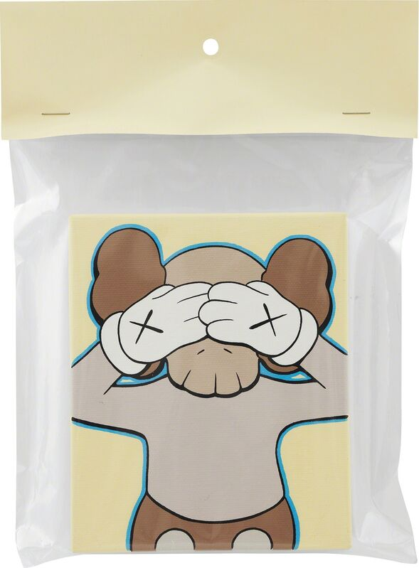 KAWS, 'UNTITLED', 2002, Painting, Acrylic on canvas, plastic packaging, paper, Phillips