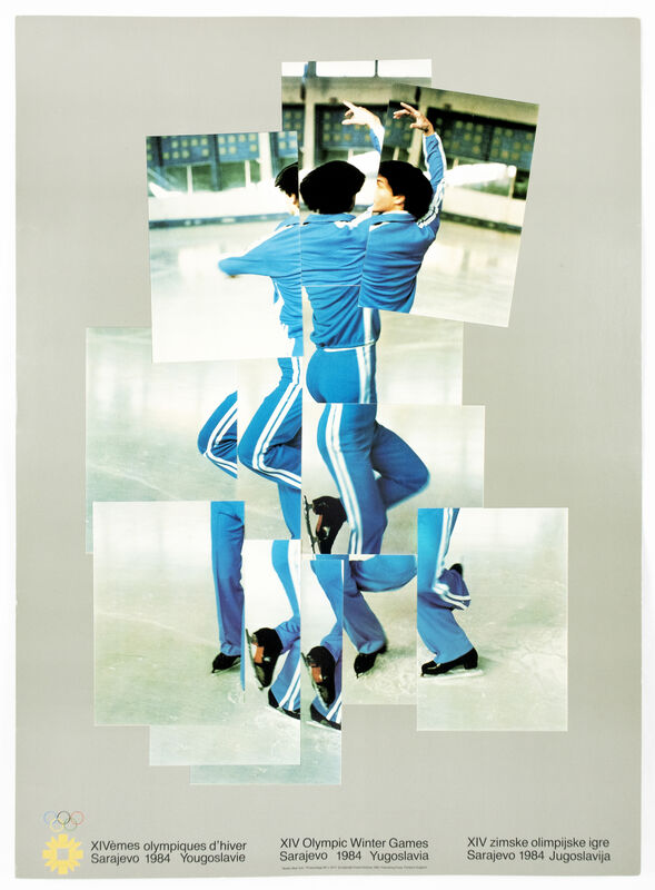 David Hockney, 'XIV Olympic Winter Games 1984 (The Skater) ', 1984, Posters, Offset Lithograph, Petersburg Press