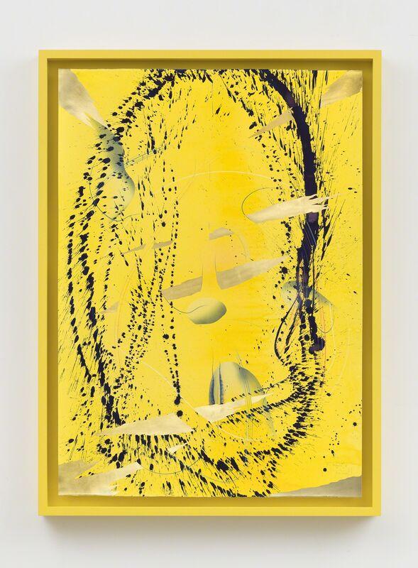 Jorinde Voigt, 'Immersive Integral Firm Radiance II', 2018-2019, Drawing, Collage or other Work on Paper, India ink, gold leaf, pastel, oil pastel, graphite on paper in artist-designed frame, David Nolan Gallery