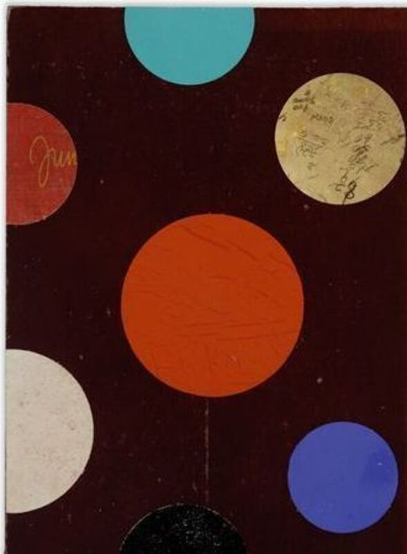 Dan Rizzie, 'Book/Circles', 2012, Mixed Media, Collage on book cover, Gerald Peters Gallery