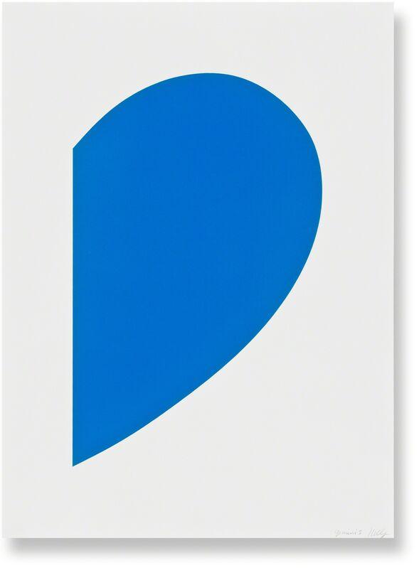 Ellsworth Kelly, 'Blue Curve', 2013, Print, 1-color lithograph, Gemini G.E.L. at Joni Moisant Weyl