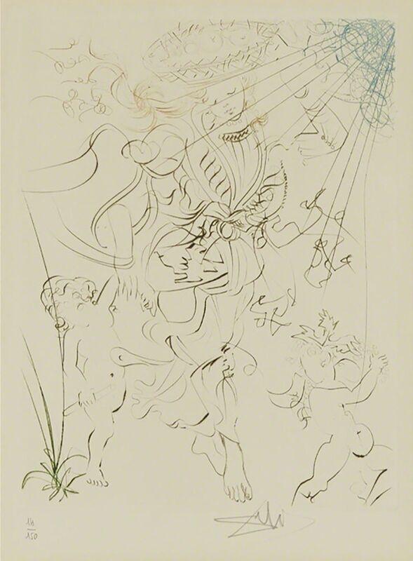 Salvador Dalí, 'Autumn', 1970, Print, Engraving with colour added, Waddington's