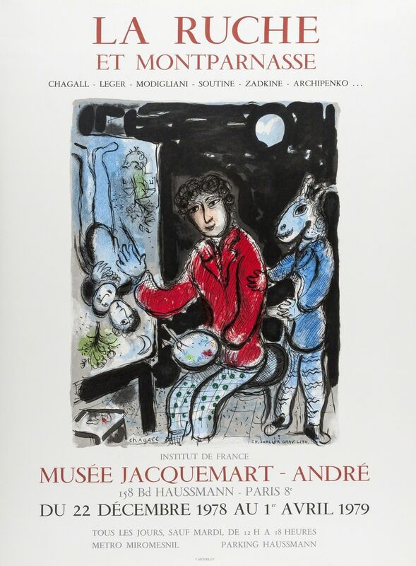 Marc Chagall, 'La Ruche de Montparnasse; L'Ange du Jugement', 1974, Print, Two lithographic posters printed in colours, Forum Auctions
