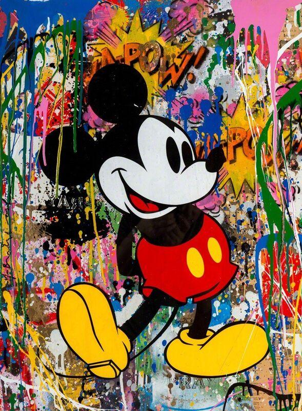 Mr. Brainwash, 'Mickey', 2017, Painting, Silkscreen and Mixed Media on Paper, Corridor Contemporary