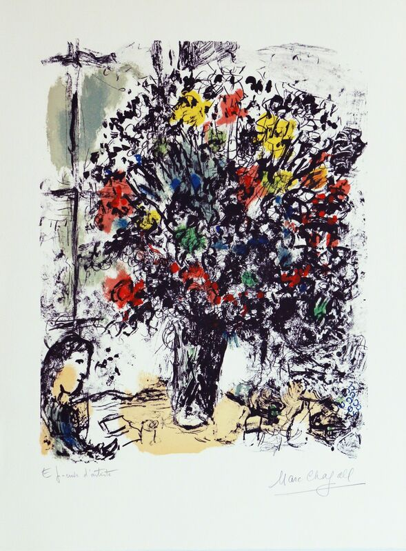 Marc Chagall, 'La Lecture', 1973, Print, Lithography, Art Works Paris Seoul Gallery