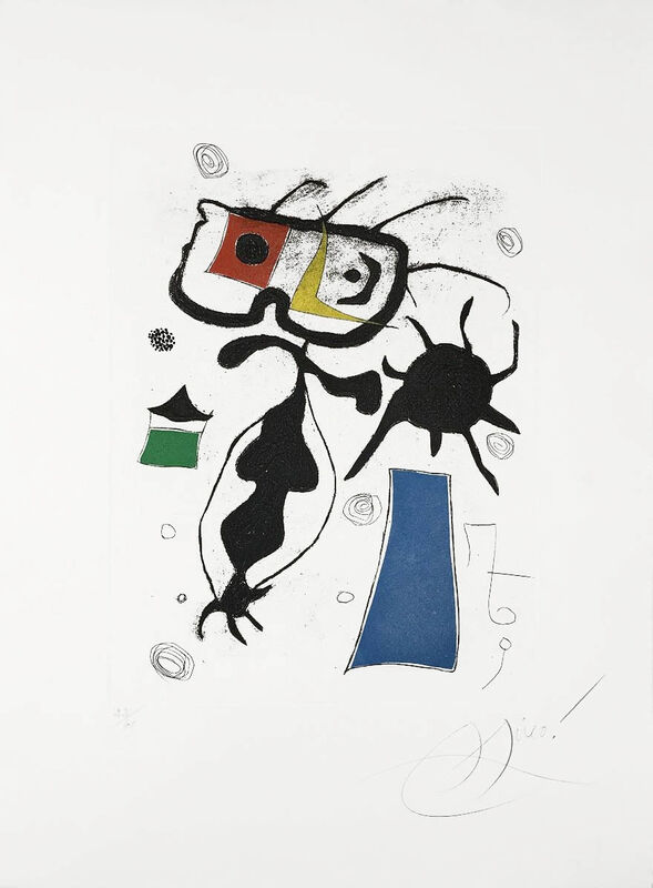 Joan Miró, 'Hommage a San Lazzaro, Pl. 6', 1977, Print, Etching with aquatint printed in colors, Masterworks Fine Art