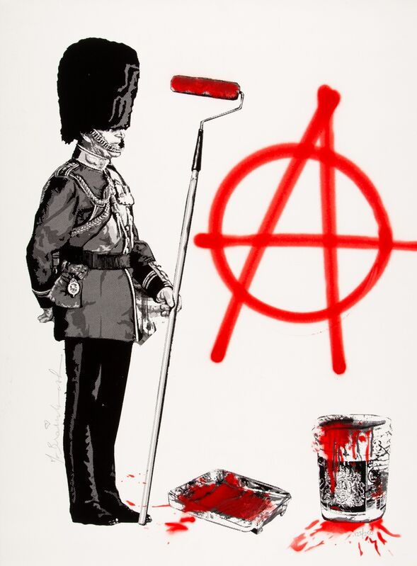 Mr. Brainwash, 'Anarchy Soldier', 2012, Print, Screenprint and stencil in colors on paper, Heritage Auctions