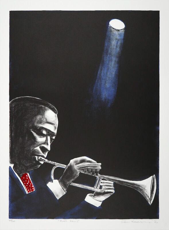 Sam Nhlengethwa, 'Miles Davis', 2021, Print, Four colour lithograph, Goodman Gallery