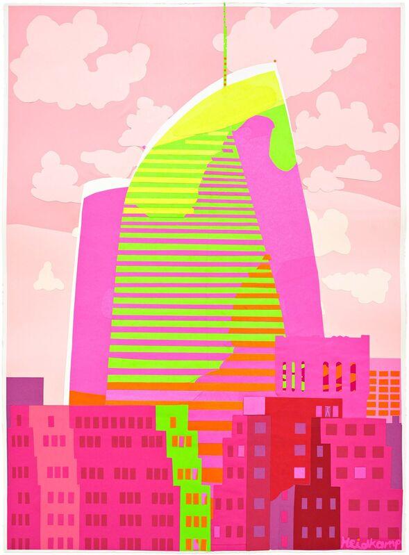 Daniel Heidkamp, 'Spire Heat', 2017, Print, Hand cut paper collage, Pace Prints