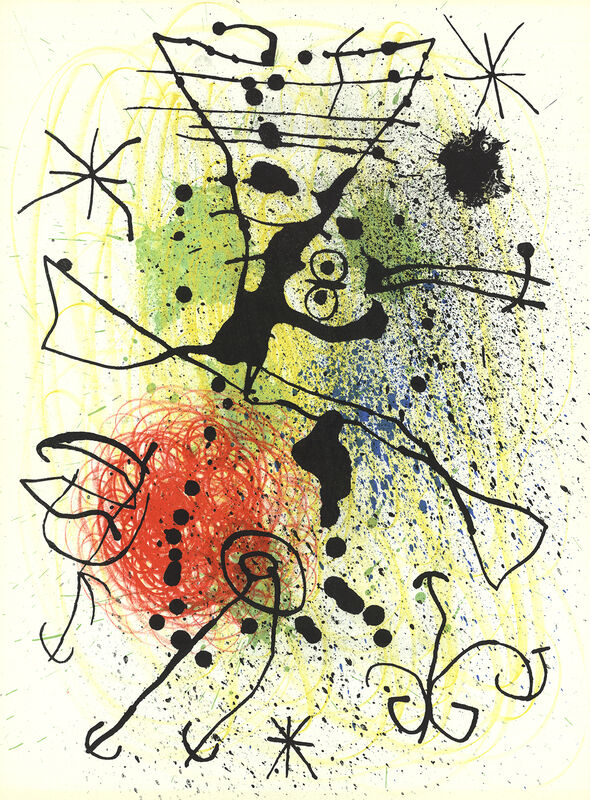 Joan Miró, 'Line and Splatter Composition', (Date unknown), Ephemera or Merchandise, Stone Lithograph, ArtWise