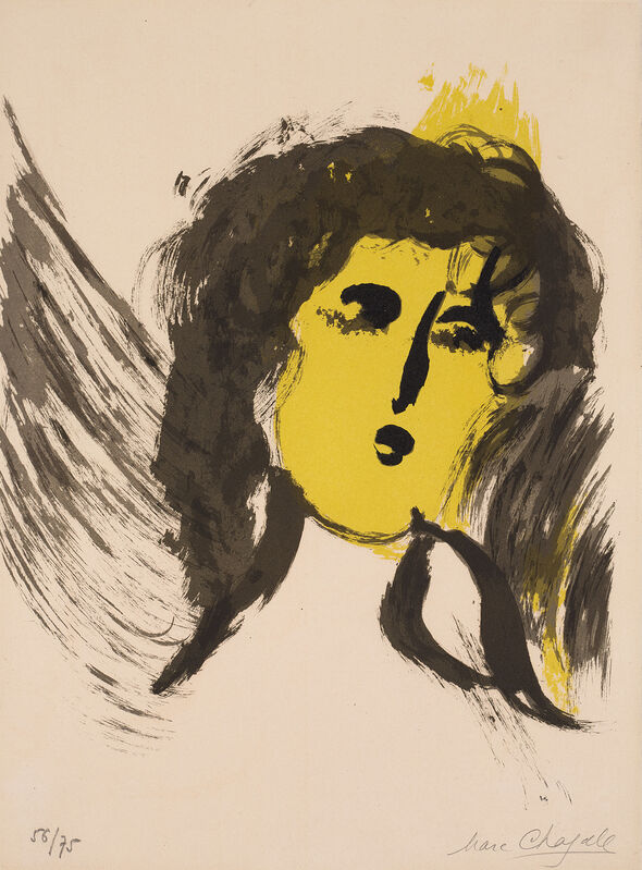 Marc Chagall, 'L'Ange (The Angel), from Verve Vol. III, No's 33-34', 1956, Print, Lithograph in colours, on Arches paper, the full sheet., Phillips