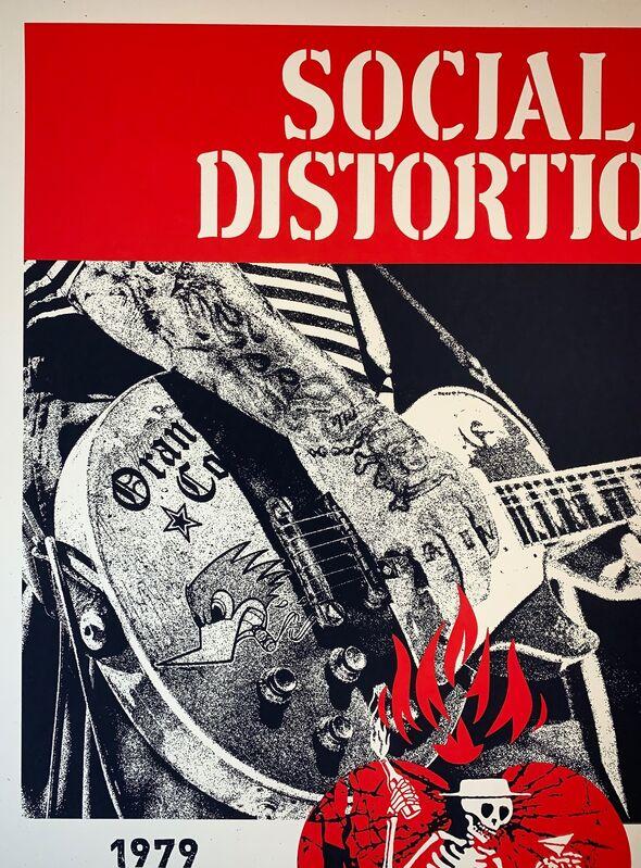Shepard Fairey, 'Social Distortion Silkscreen Print By Shepard Fairey 2019 Rock Music ', 2019, Print, Fine Art Paper On Cream Speckletone, New Union Gallery