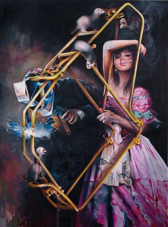 Julien Grudzinski, 'On fait tout ce qu'on peut', 2012, Painting, Oil on canvas, Wide Painting