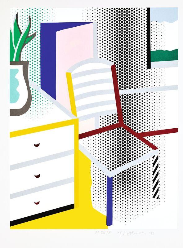 Roy Lichtenstein, 'Interior with Chair (C. 309)', 1997, Print, Screenprint in colors on Somerset textured paper, DANE FINE ART