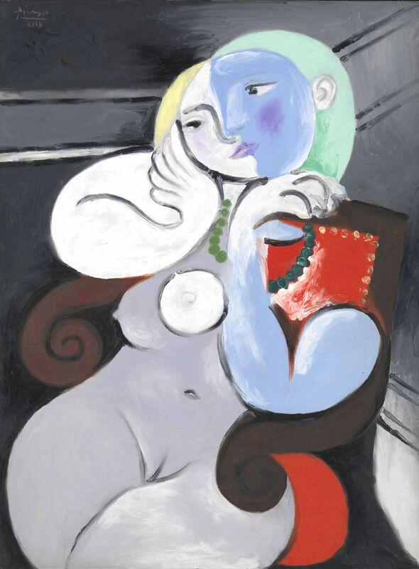Pablo Picasso, 'Nude Woman in a Red Armchair', 1932, Painting, Oil paint on canvas, Tate