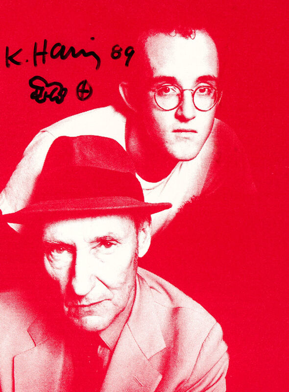 Keith Haring, 'Signed, illustrated Keith Haring Apocalypse poster (Keith Haring William Burroughs)', 1988/1989, Ephemera or Merchandise, Offset lithograph, Lot 180