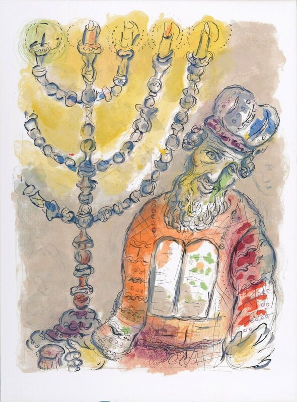 Marc Chagall, 'The Story of Exodus : Thou Shalt Anoint Aaron ', 1966, Print, One Original Lithograph 1966, NCAG