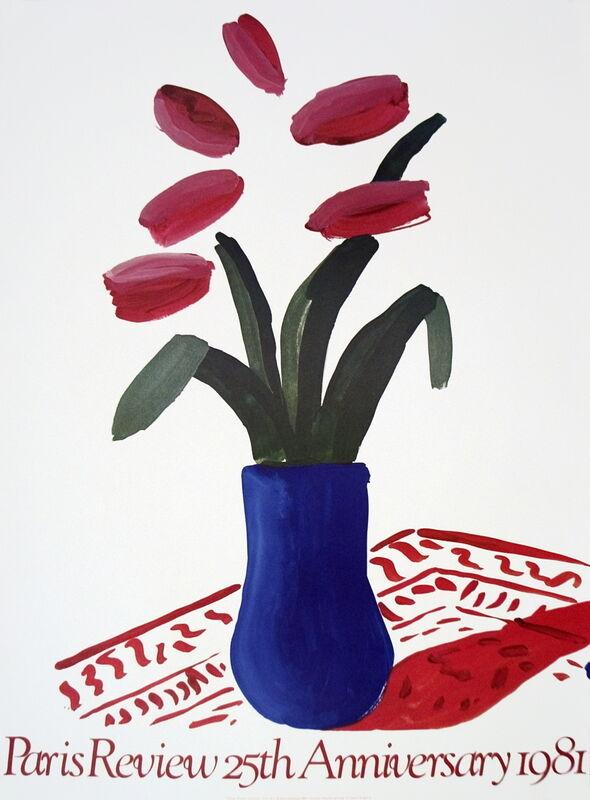 David Hockney, 'Flower Study Paris Review', 1981, Ephemera or Merchandise, Stone Lithograph, ArtWise
