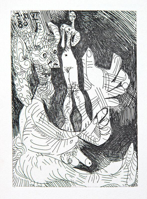 Pablo Picasso, 'Vieux faune avec une Poupée Vivante', 1968, Print, Etching and aquatint, Goldmark Gallery