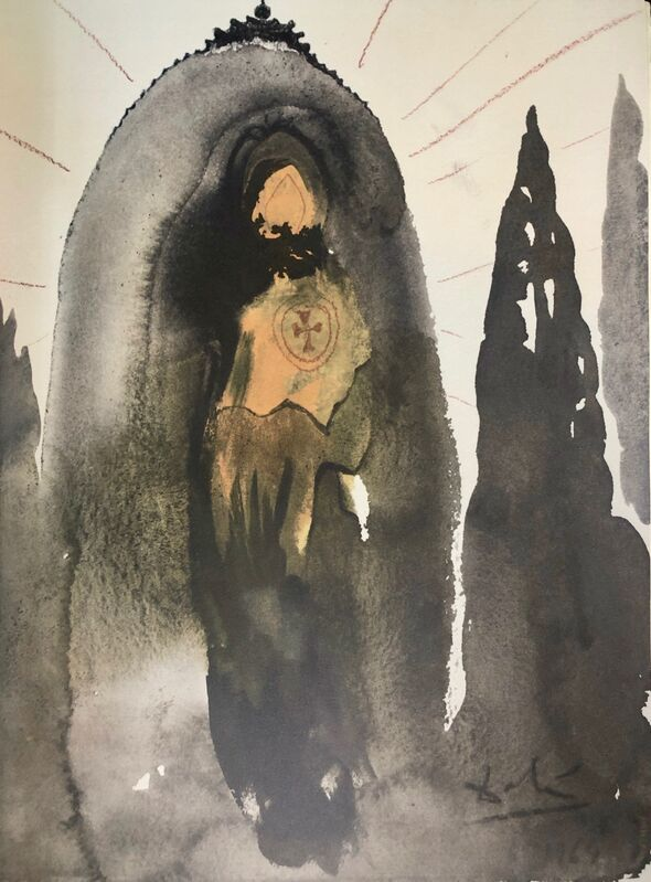 Salvador Dalí, 'Who will Go Up To The Mountain Of The Lord, 'Quis Ascendet In Montem Domini', Biblia Sacra', 1967, Print, Original Lithograph, Inviere Gallery