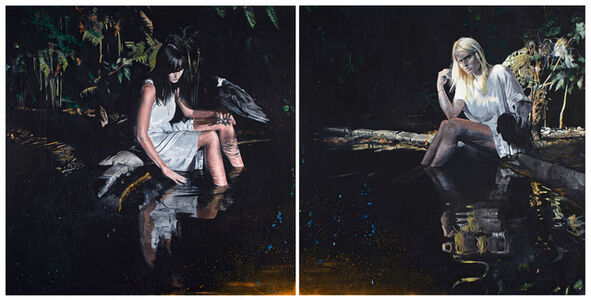 Matthew Hindley, 'Diamond Diamond, Shinin' Shinin', diptych', 2011