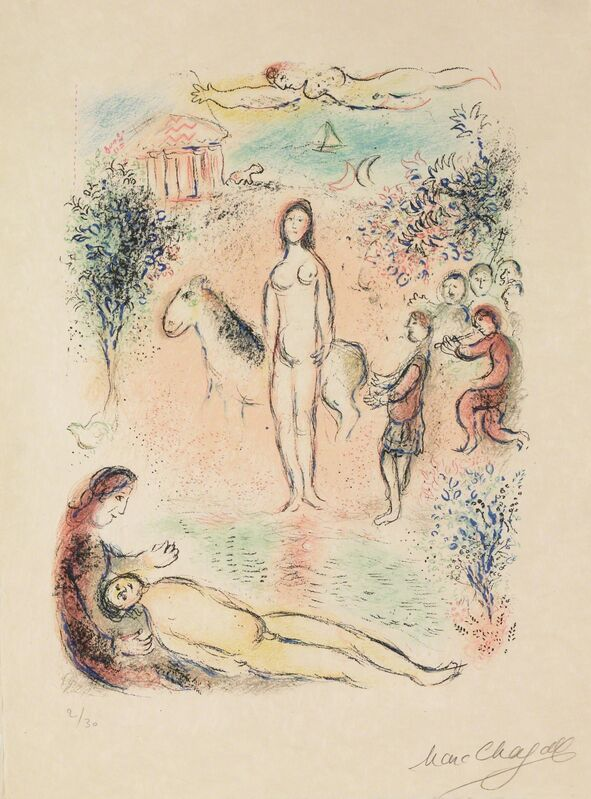 Marc Chagall, 'Frontispiece, Second Volume (M.788, L'Odyssée)', 1974, Print, Hand-signed lithograph, Martin Lawrence Galleries